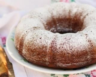 Gâteau au yaourt diététique au son d'avoine