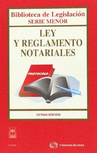 Texto descriptivo: reglamento notarial