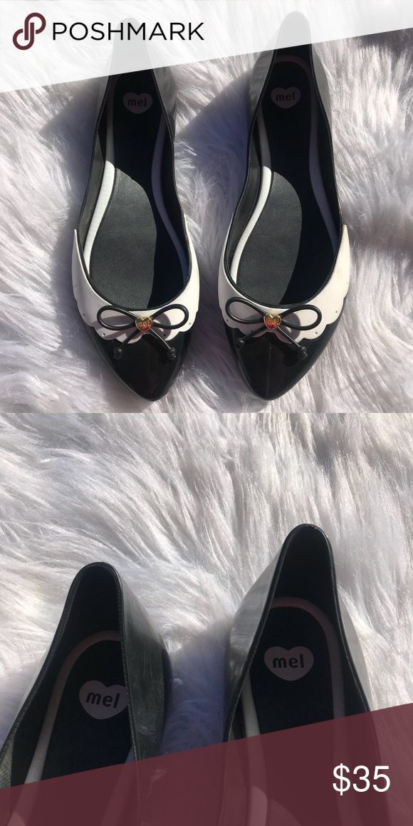 Woman's Mellisa Shoes Size 8  Worn a few times  No noticeable flaws  Great shoes that smell fabulous Melissa Shoes Flats & Loafers