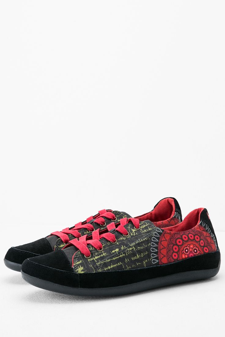 These trainers with a rubber sole have a cute red print that will look great with anything. Wear them with jeans for a casual look or with a dress and tights for a dressed down winter look. The choice is yours!