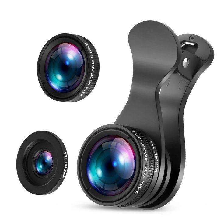 iPhone Camera Lens Smartphone Kit Zoom Mobile Attachment Fisheye Macro Wide New.   Iphone camera. Iphone camera lens. Camera lens