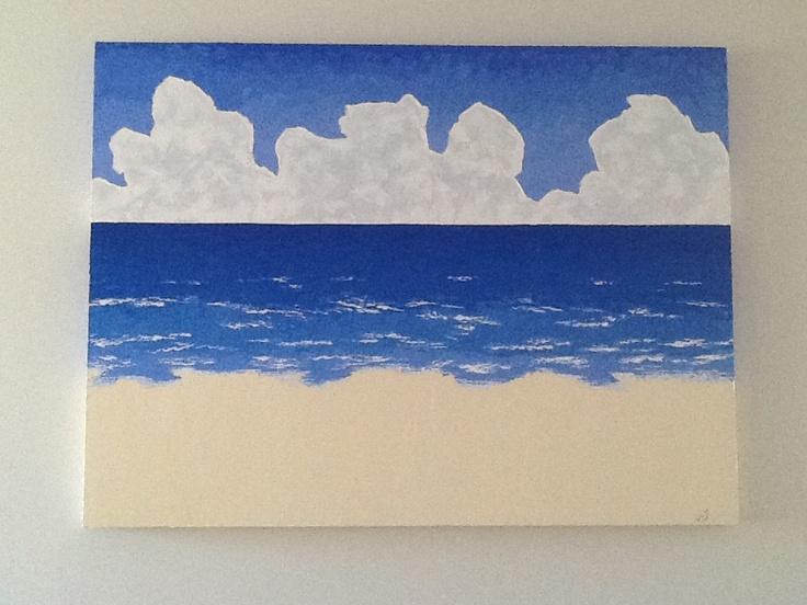 From the beach  Acrylic