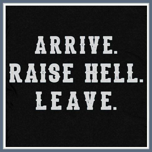 Arrive Raise Hell Leave T Shirt Funny Wrestling Stone Cold WWF Steve Austin Tee Shirt