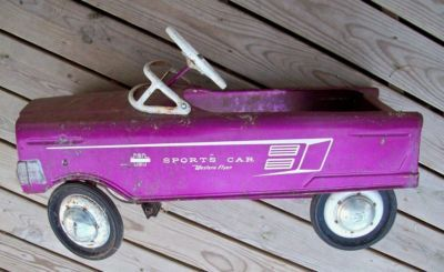 antique radio flyer sports car | vintage 60s sports car western flyer toy pedal car 32 completed 79 00