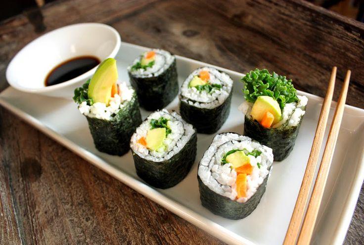 Oppskrift Vegan Vegetar Vegansk Sushi Maki