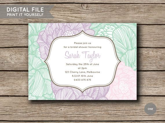 Printable DIY Invite Bridal Shower / Kitchen by shopmarigoldlane