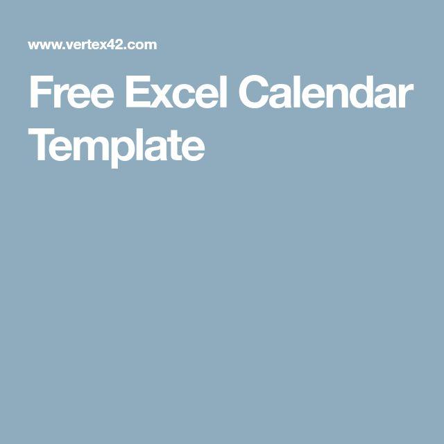 The 25+ best Excel calendar template ideas on Pinterest Excel - calendar template excel
