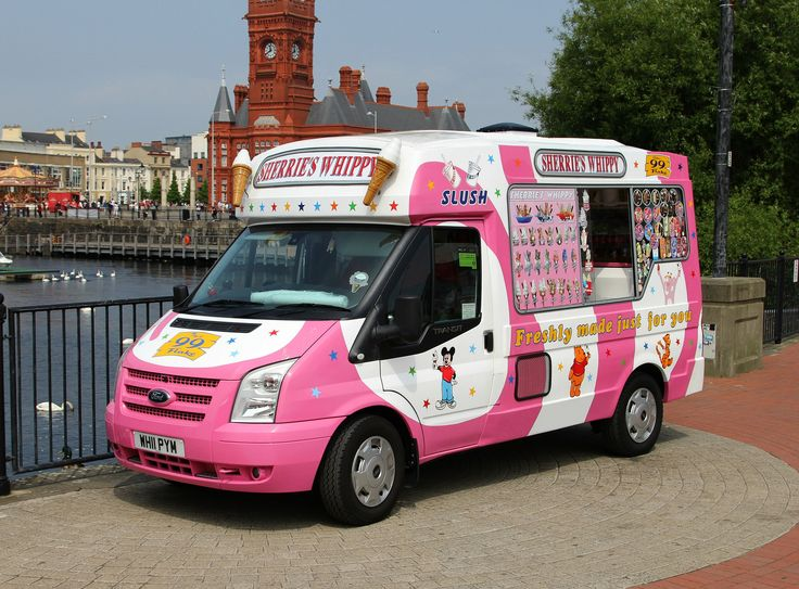 Ford Transit 100   Ice Cream Van     Seen In Cardiff Bay