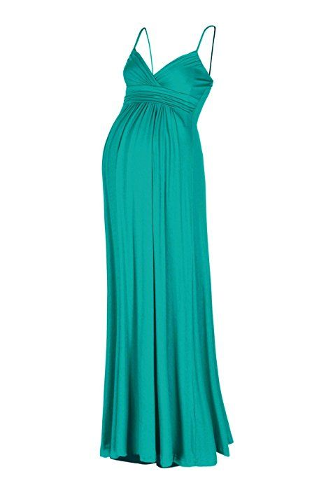 Beachcoco Women's Maternity Sweetheart Party Maxi Dress (M, Jade)