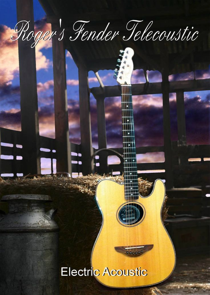 My Fender telecoustic Photography by Roger Dale