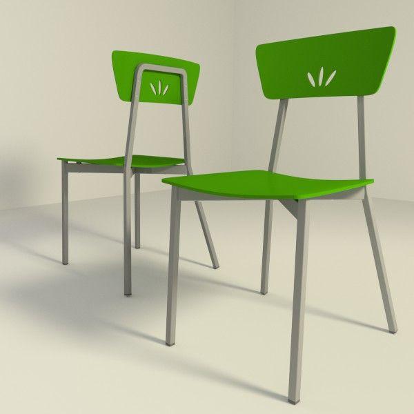 Sillas de cocina modelo cam con asiento en madera lacada for Sillas de cocina modernas