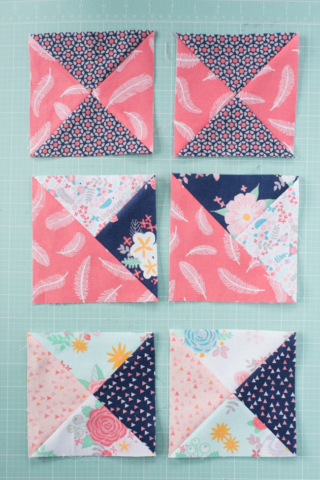 quarter square triangles Turn all your left over squares into triangles and  it turns out pretty.