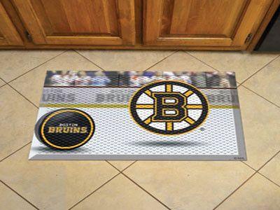 Puck Scraper Mat - Boston Bruins