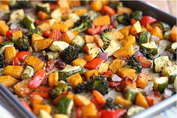 Paleo rozmaringos sült zöldségek
