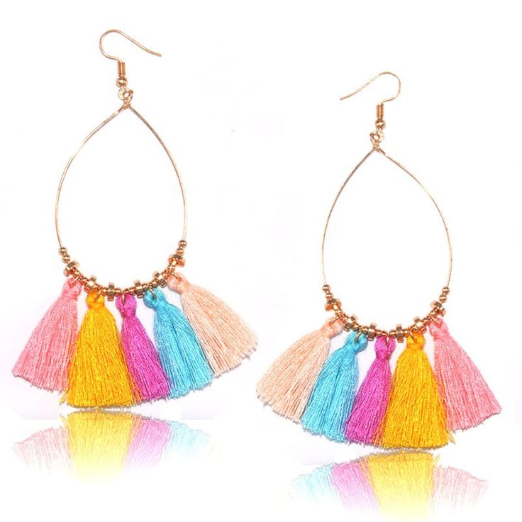 Colorful Tassel Women's earrings Round 10color Long Fashion //Price: $7.95 & FREE Shipping //     #stylish