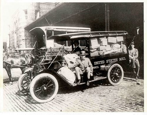 Parcel Post Vehicles and Employees by Smithsonian Institution