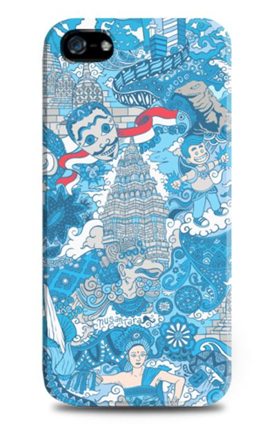 Ragam Budaya Negeriku iPhone Case design by nusantara. Blue case ragam budaya with indonesian places and indonesia flag pattern . Also available for samsung galacy note 2 , 3 and samsung galaxy s3 and s4. http://zocko.it/LDEut