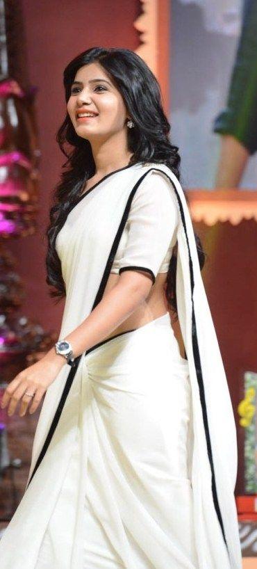 ''Pinterest @Littlehub || Six yard- The Saree ❤•。*゚ || A simple, elegant saree