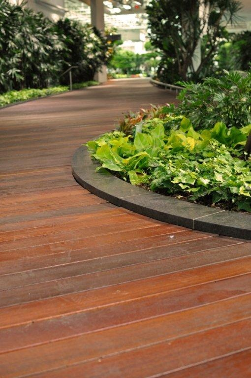 Kayu Canada's Red Balau Batu is the ideal product for any exterior project. Located at the Devonian Gardens in Calgary, Alberta.