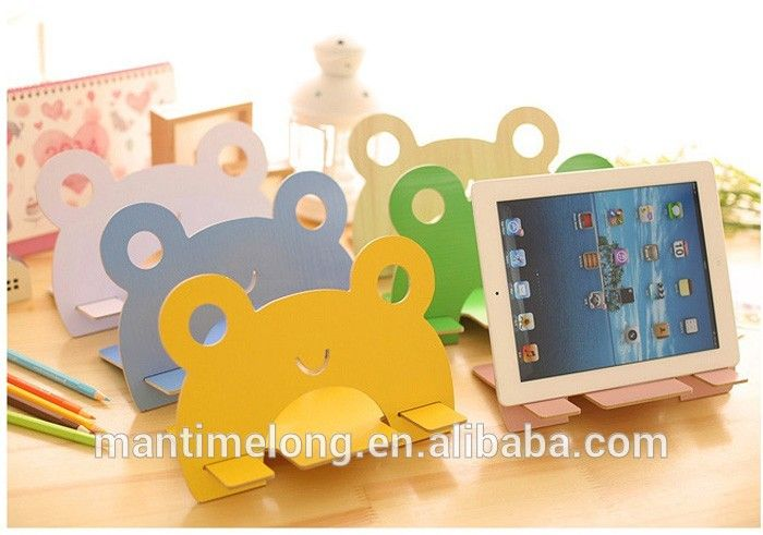 wooden frog ear phone stand mobile phone stand mobile phone display stand