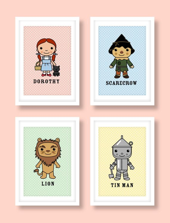 Wizard of Oz inspired wall art kids wall art Wizard by MiniHeroes