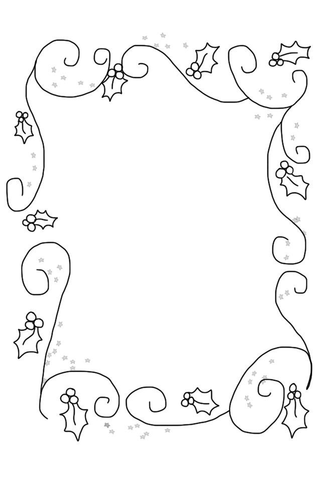 14 best images on pinterest page borders billboard and rectangular holly border with swirls spiritdancerdesigns Choice Image