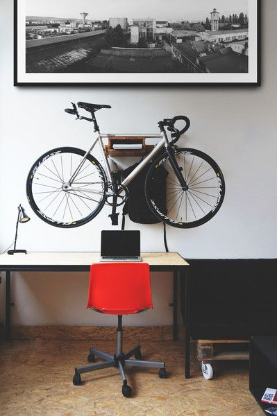 STOCKHOLM+ Wooden Bicycle Shelf