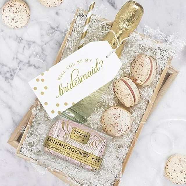 Will you be my bridesmaid gift box by #pinchprovisions