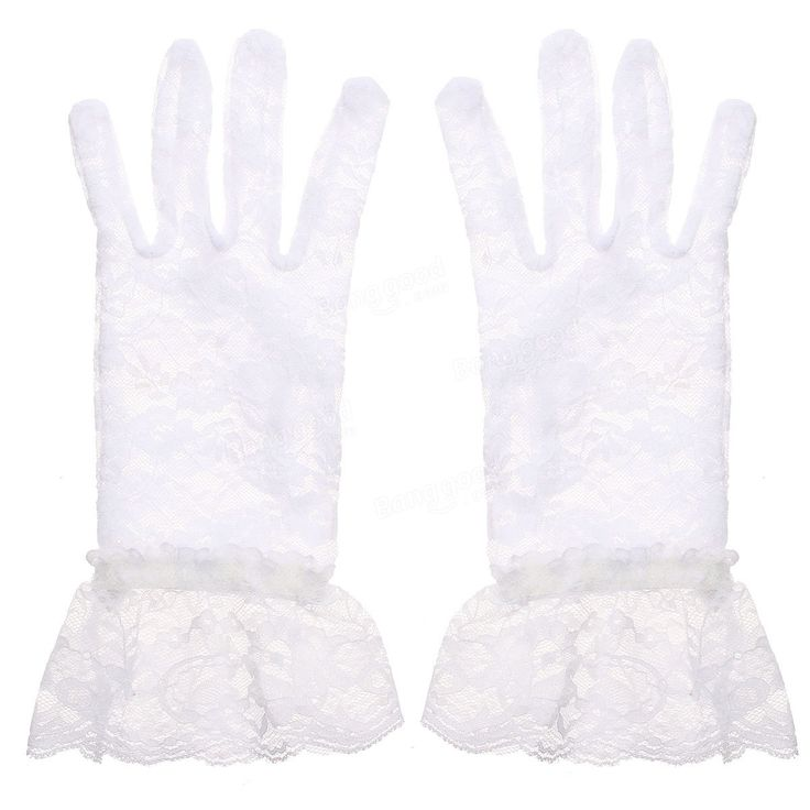 Women Bride Sexy Lace Gloves Full Finger Evening Wedding Party Prom Driving Costume Accessories at Banggood