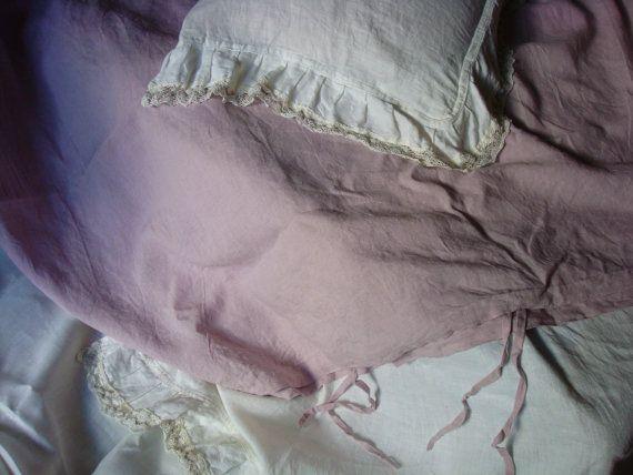 Queen King heathy linen duvet cover queen bedding soft by Luxoteks