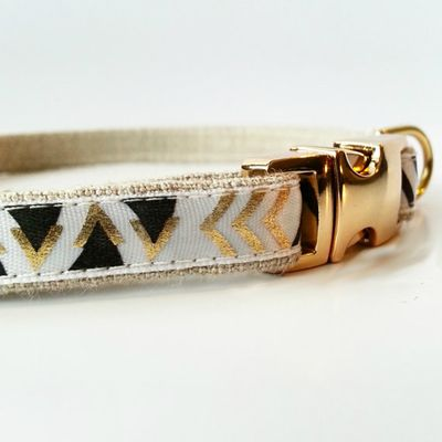 We hope that Tribal never stops trending... The thin and elegant design with the gold detail is perfect for your dog.