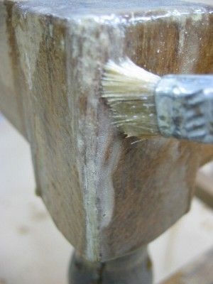 Removing paint from crevices
