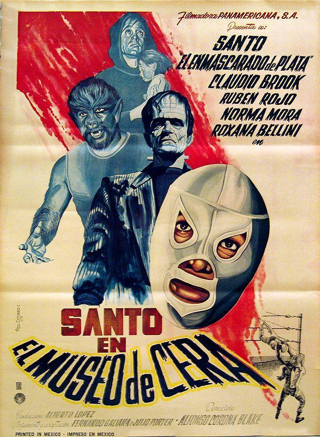 """""""Santo en el museo de cera"""" poster"""