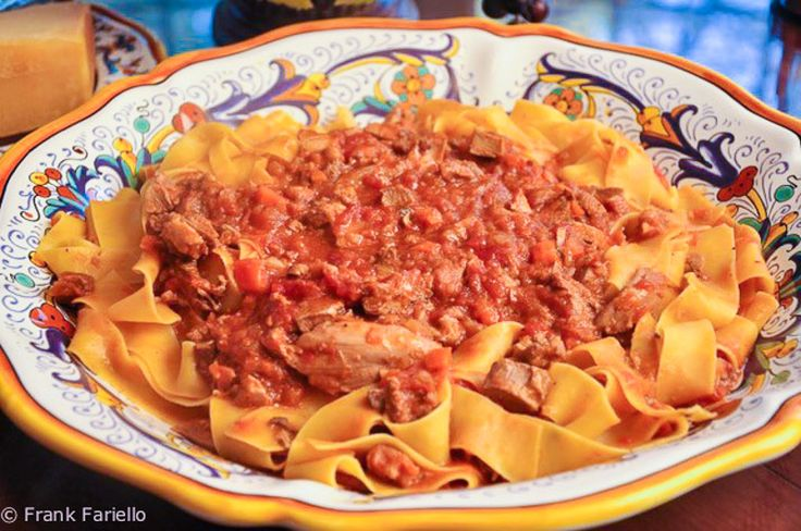 When one thinks of Tuscan cooking, one of the first dishes that comes to mind—along with such icons as fagioli all'uccelleto and bistecca alla fiorentina—is pappardelle sulla lepre, a wide ribbon pasta with hare sauce. Its fame is perfectly justified; ...