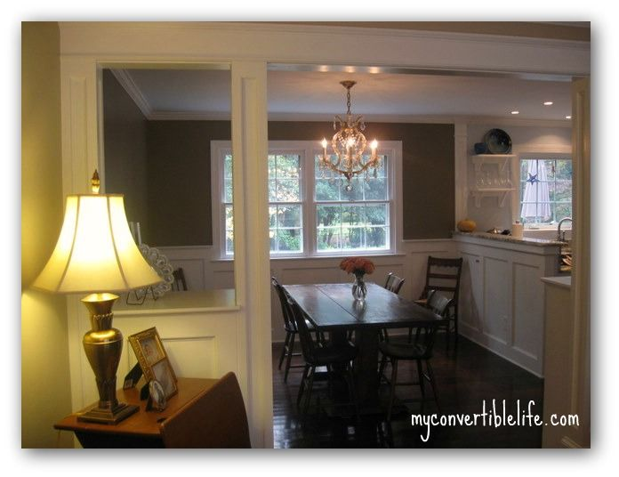 From mom change to open up the dining room and kitchen