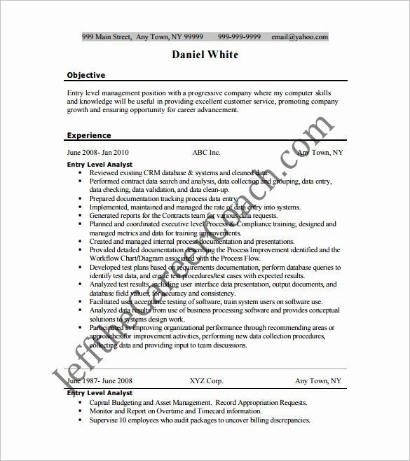 Entry Level Business Analyst Resume Luxury Business Analyst Resume Template 11 Free Word Excel P Business Analyst Resume Resume Template Word Resume Template