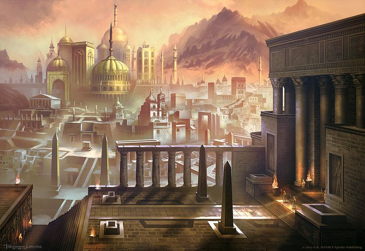 The City of Carthusa near Mt. Petrova from the book Arena Games: Legend of Petrova, or the Arena Games Series