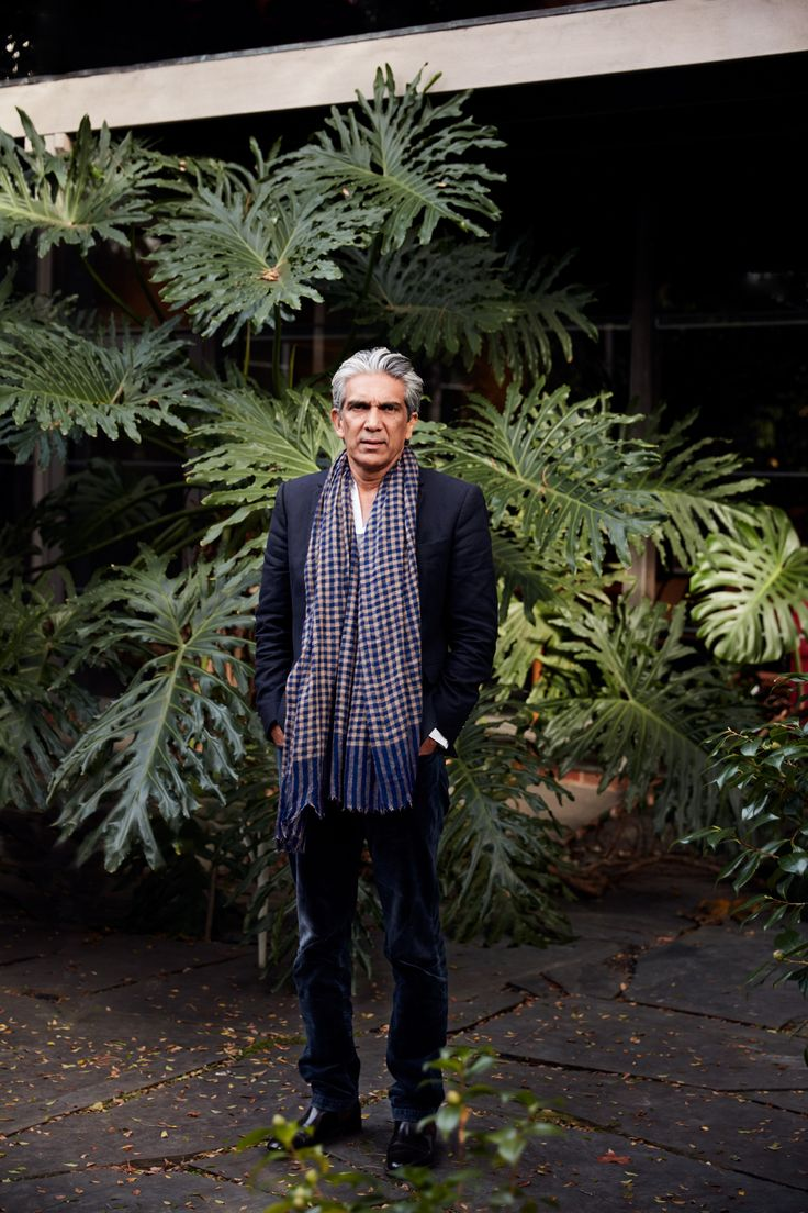 A Place of Meaning | Assemble Papers by Sara Savage. Bijoy Jain amid the greenery of the internal courtyard at Robin Boyd's Walsh Street House, built in 1958. Photo: Tom Ross.