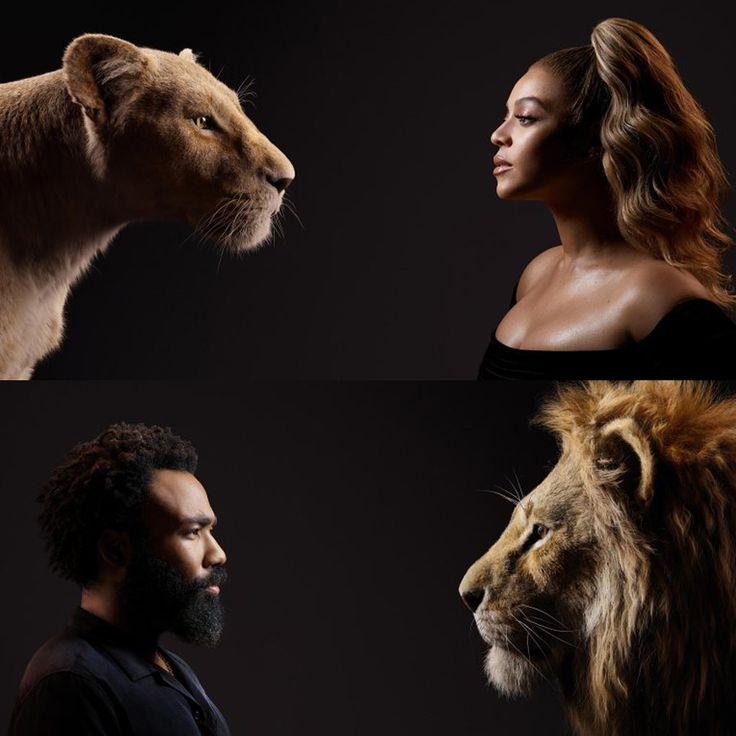 The Lion King stars come face to face with their characters in new images