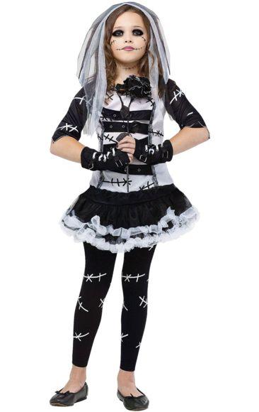 Kids Bride of Frankenstein Halloween Costume | Bride of ...