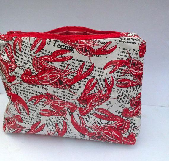 Custom Lobster News Design Cosmetic Bag by OshriCreativeDesign, $20.00