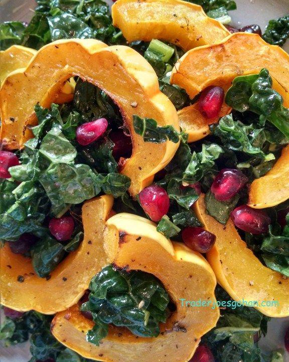 トレーダージョーズのトスカーナケールとデリカタかぼちゃのサラダ レシピ