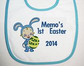 personalised First Easter bib 2014 made  by Babys Precious Gifts