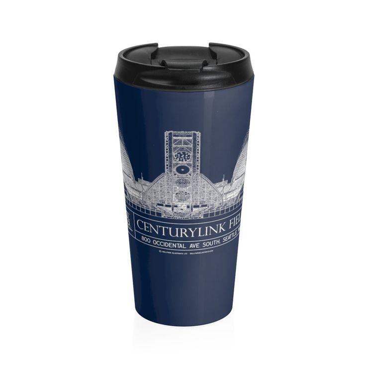 CenturyLink Field Stainless Steel Travel Mug