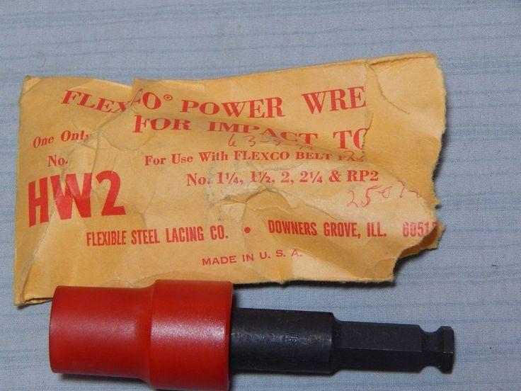 Flexco HW2 Power Wrench Installation Bit New Flexible Steel Lacing Co  | eBay