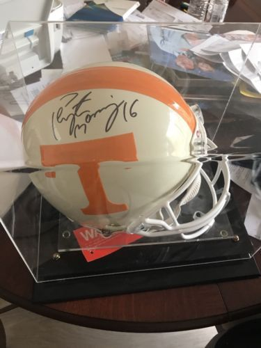 Authentic Peyton Manning Autograph Official Tennessee Vols Helmet
