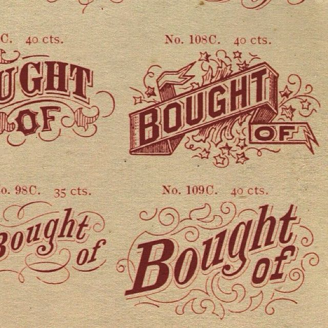 Specimen discovered in an auction. #typehunter #typeresearch #vintagetypography