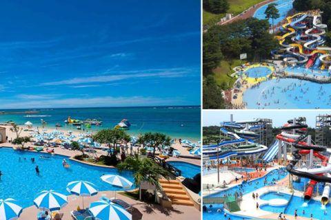 Conheça alguns dos melhores parques aquáticos no Japão Confira algumas das melhores piscinas e parques aquáticos no Japão selecionados pelo site Japan Info.