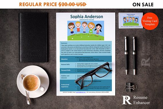 80% OFF SALE Kindergarten Teacher Resume Template  Resume