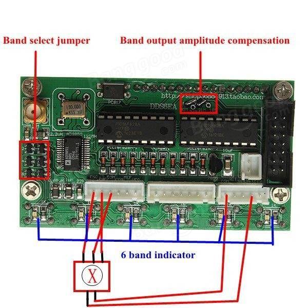 DDS Signal Generator AD9850 6 Bands 0~55MHz Digital